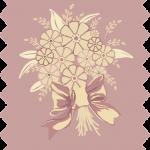 tissu gutermann gerbe fleurs