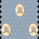 tissu gutermann fleurs bleues