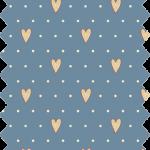 tissu gutermann bleu coeurs