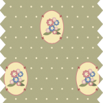 tissu gutermann vert fleurs