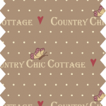 tissu gutermann marron country cottage