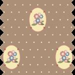 tissu guterman fond marron petites fleurs