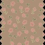 tissu gutermann marron fleurs roses