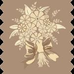 tissu gutermann marron gerbe fleurs