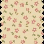 tissu gutermann écru fleurs roses
