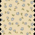 tissu gutermann écru fleurs bleues