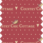 tissu gutermann country collection rouge