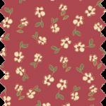 tissu gutermann rouge fleurs jaunes