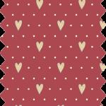 tissu gutermann rouge coeur