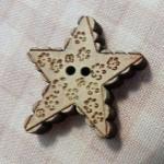 Bouton étoile dentelle beige 4.80€