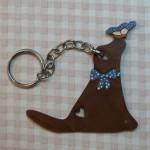 Porte clés Lizzy bleu 14.50€