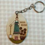 Porte clés Miss Rose 14.50€