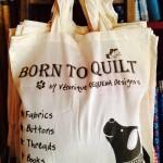 Sac tissu Born to Quilt 8.50€
